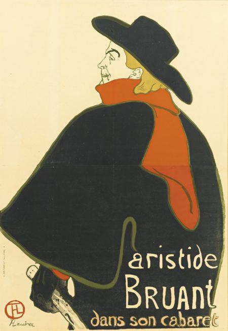 Henri de Toulouse-Lautrec-Aristide Bruant, Dans Son Cabaret (D. 348; Adr. 12; W. P9.C)-1893