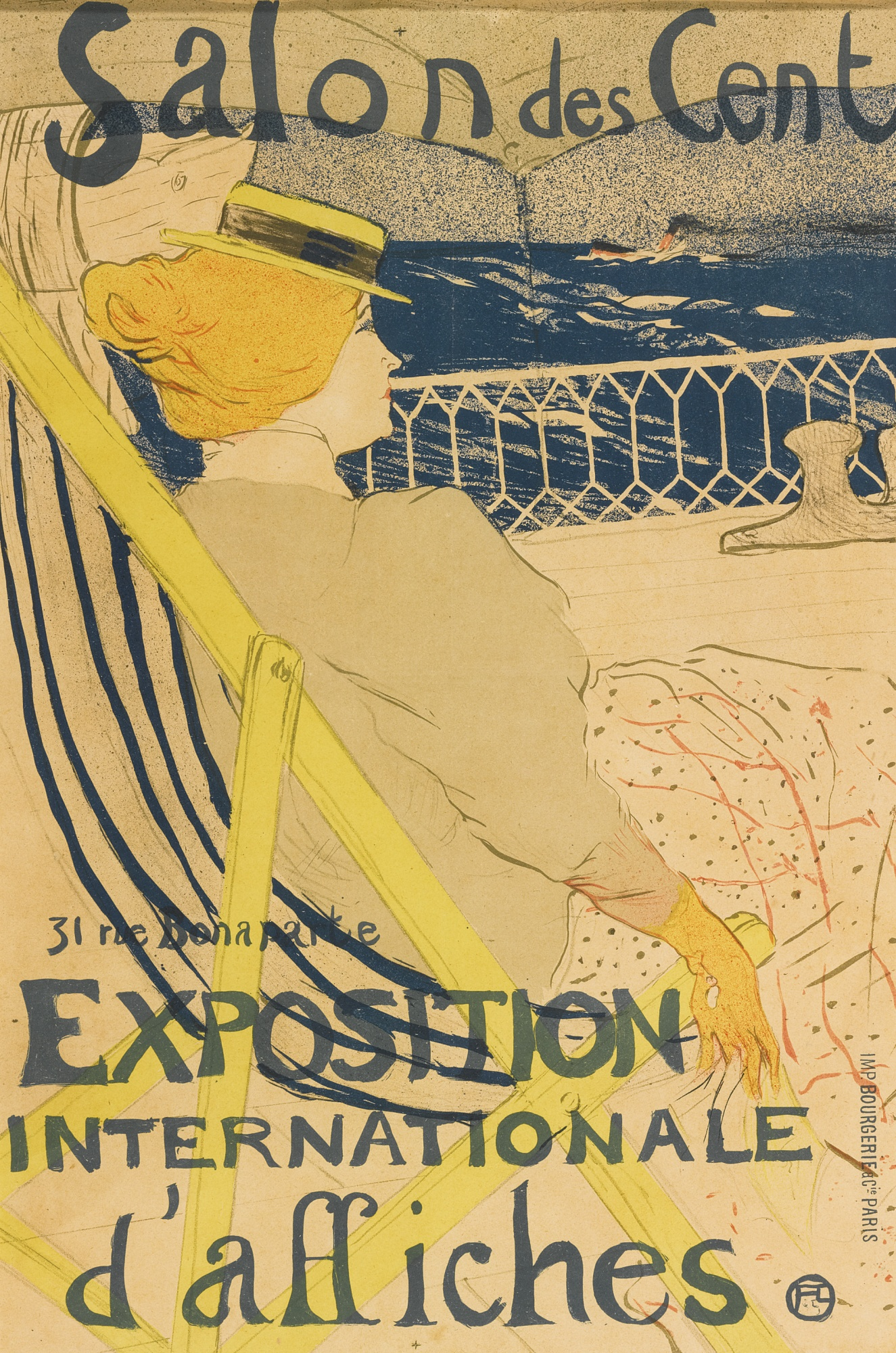 Henri de Toulouse-Lautrec-La Passagere Du 54, Ou Promenade En Yacht (D. 366; Adr. 137; W. P20.III)-1896