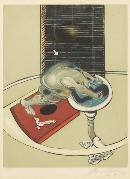 Francis Bacon-Lhomme Au Lavabo (Sabatier 3)-1977