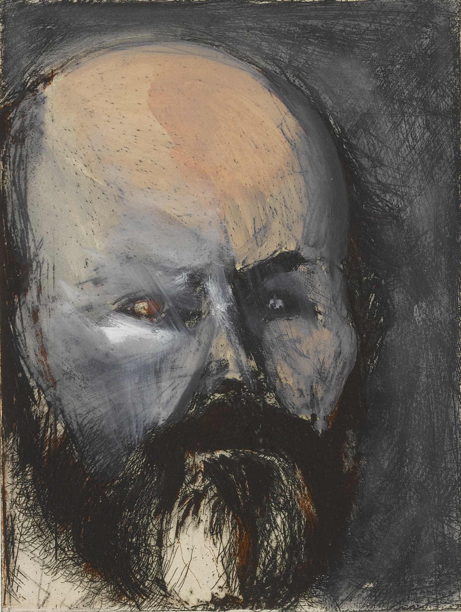 Jim Dine-Self-Portrait With Oil Paint (D. & F. 28)-