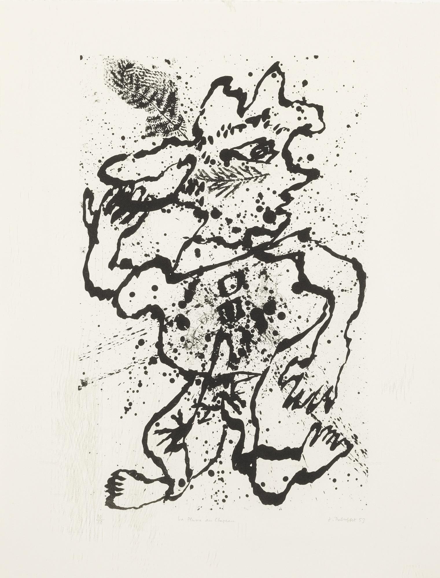 Jean Dubuffet-La Plume Au Chapeau (Webel 376)-1953