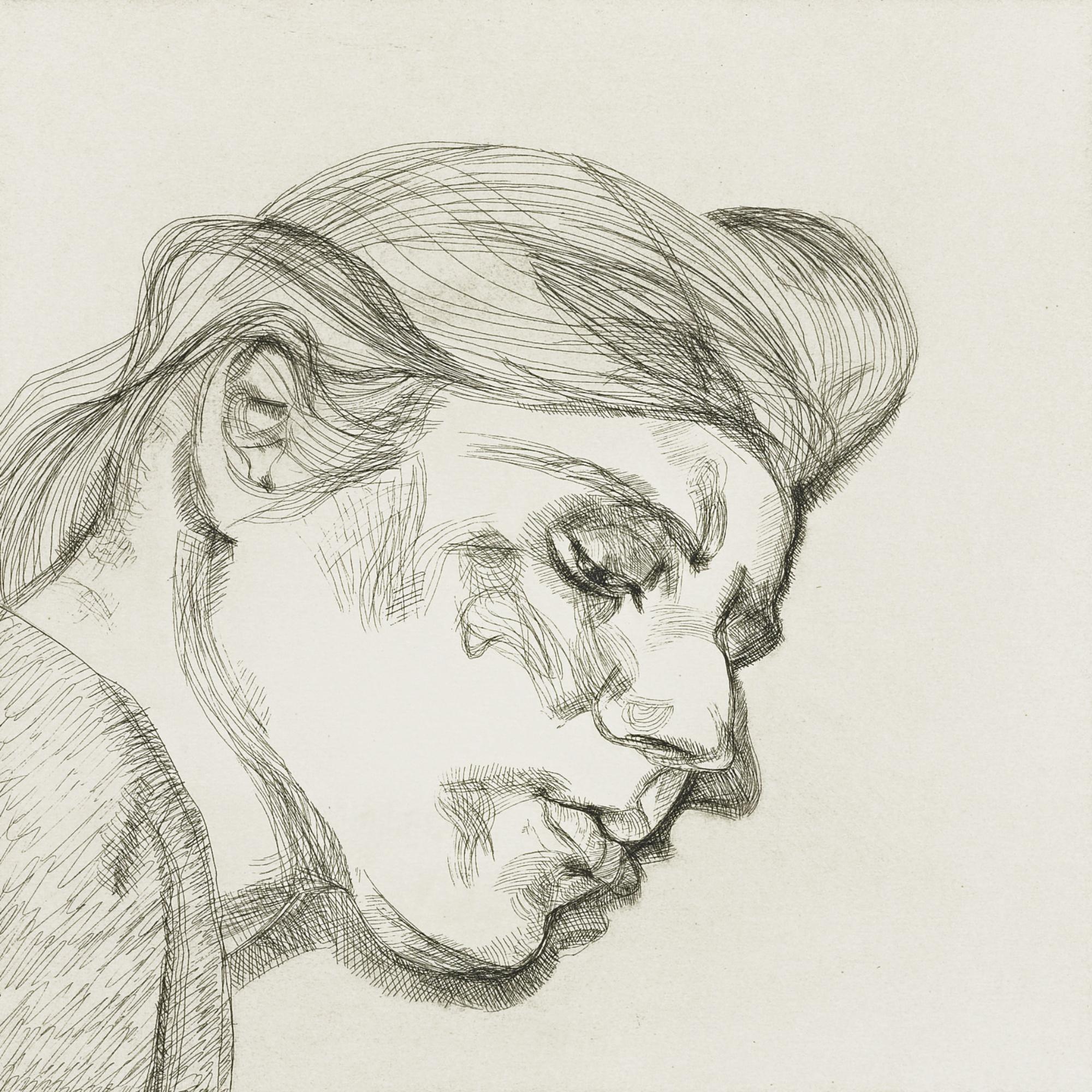 Lucian Freud-Ib (Hartley 22)-1984