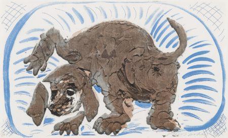 David Hockney-Stanley In A Basket, October 1986 (M.C.A.T. 318)-1986