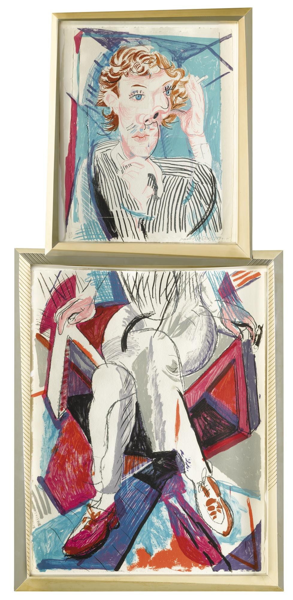 David Hockney-Image Of Gregory (M.C.A.T. 276)-1985