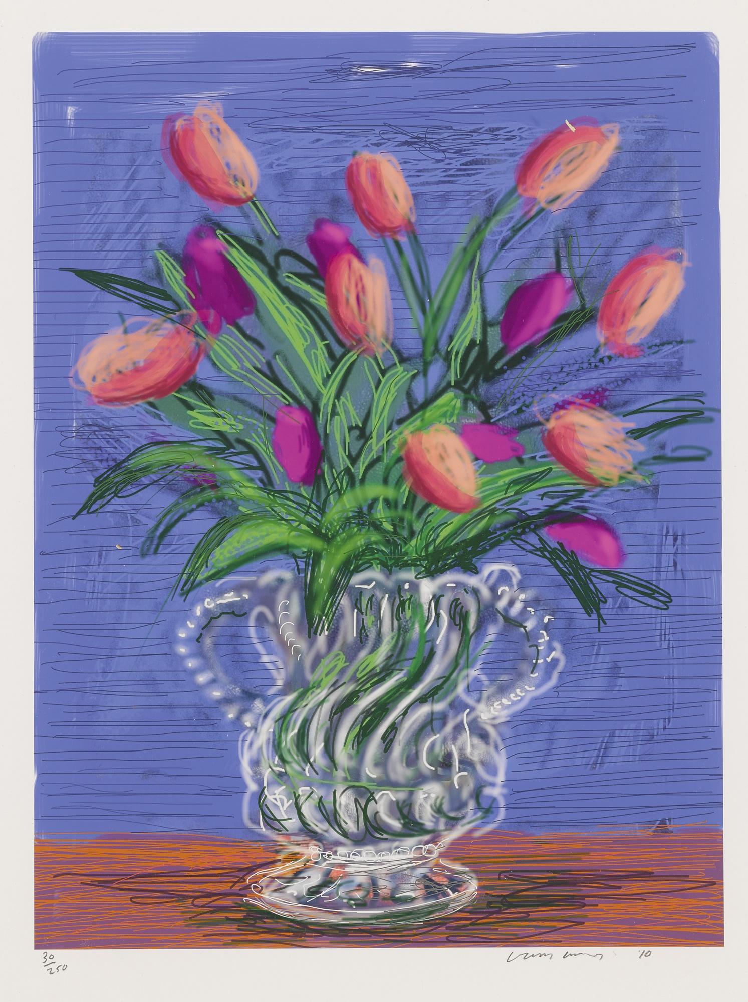 David Hockney-Ipad Drawing Untitled, 346-2010