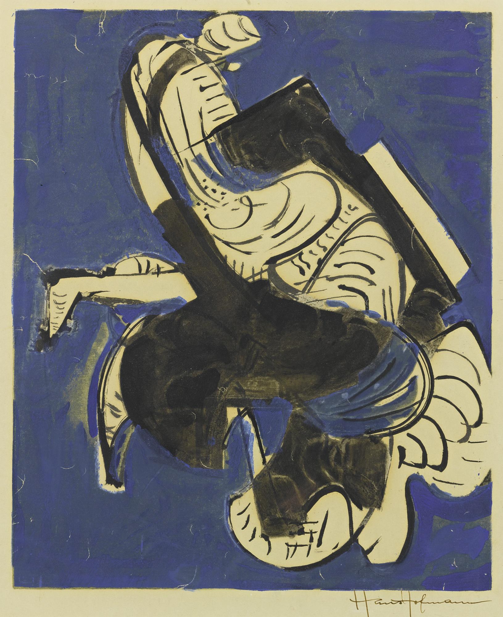 Hans Hofmann-Composition In Blue-1952