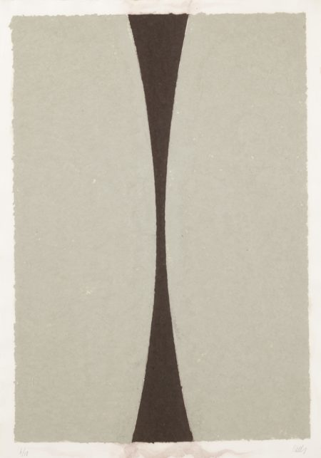 Ellsworth Kelly-Colored Paper Image XI (Gray Curves With Brown) (Axsom 151)-1976