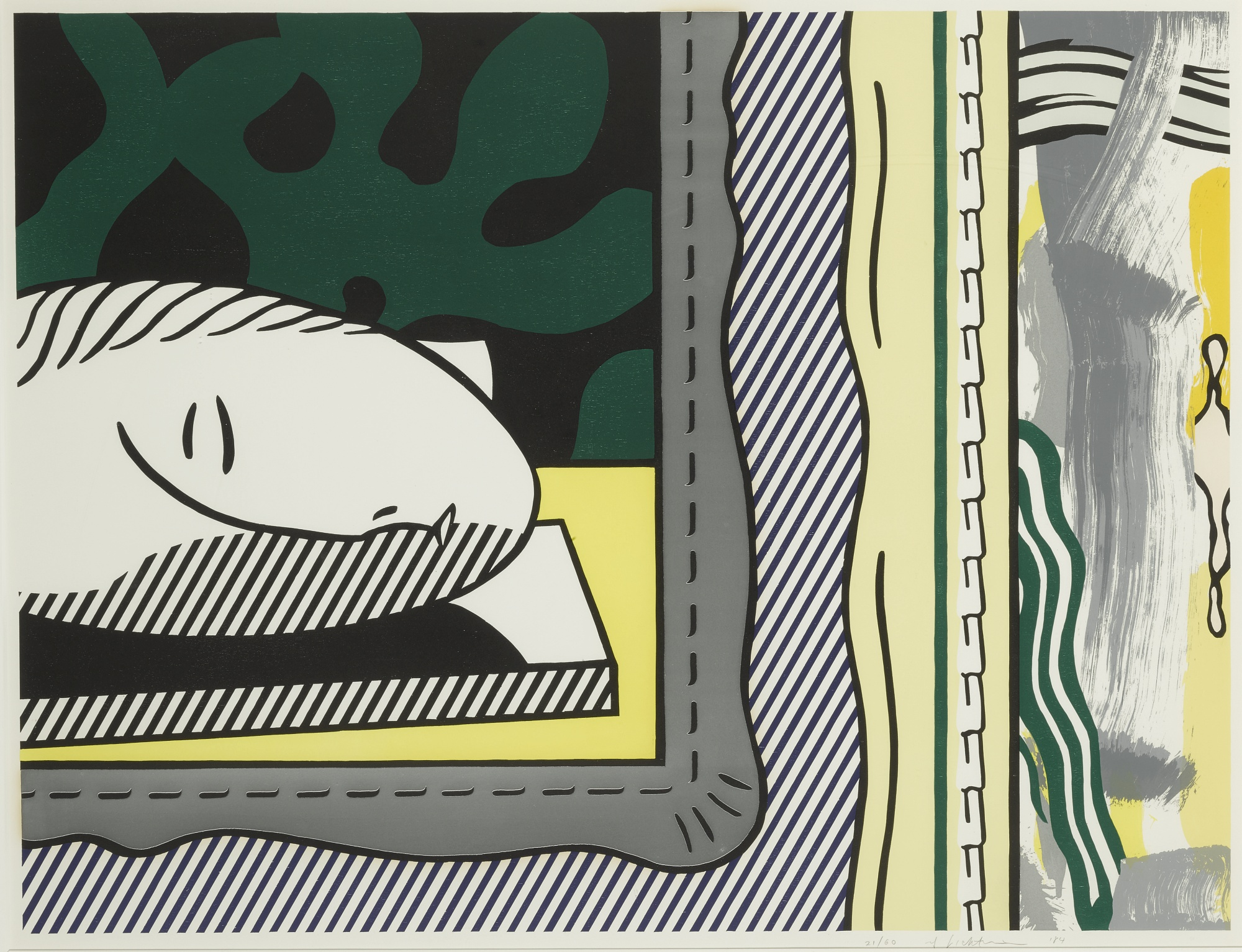 Roy Lichtenstein-Two Paintings: Sleeping Muse (C. 203)-1984