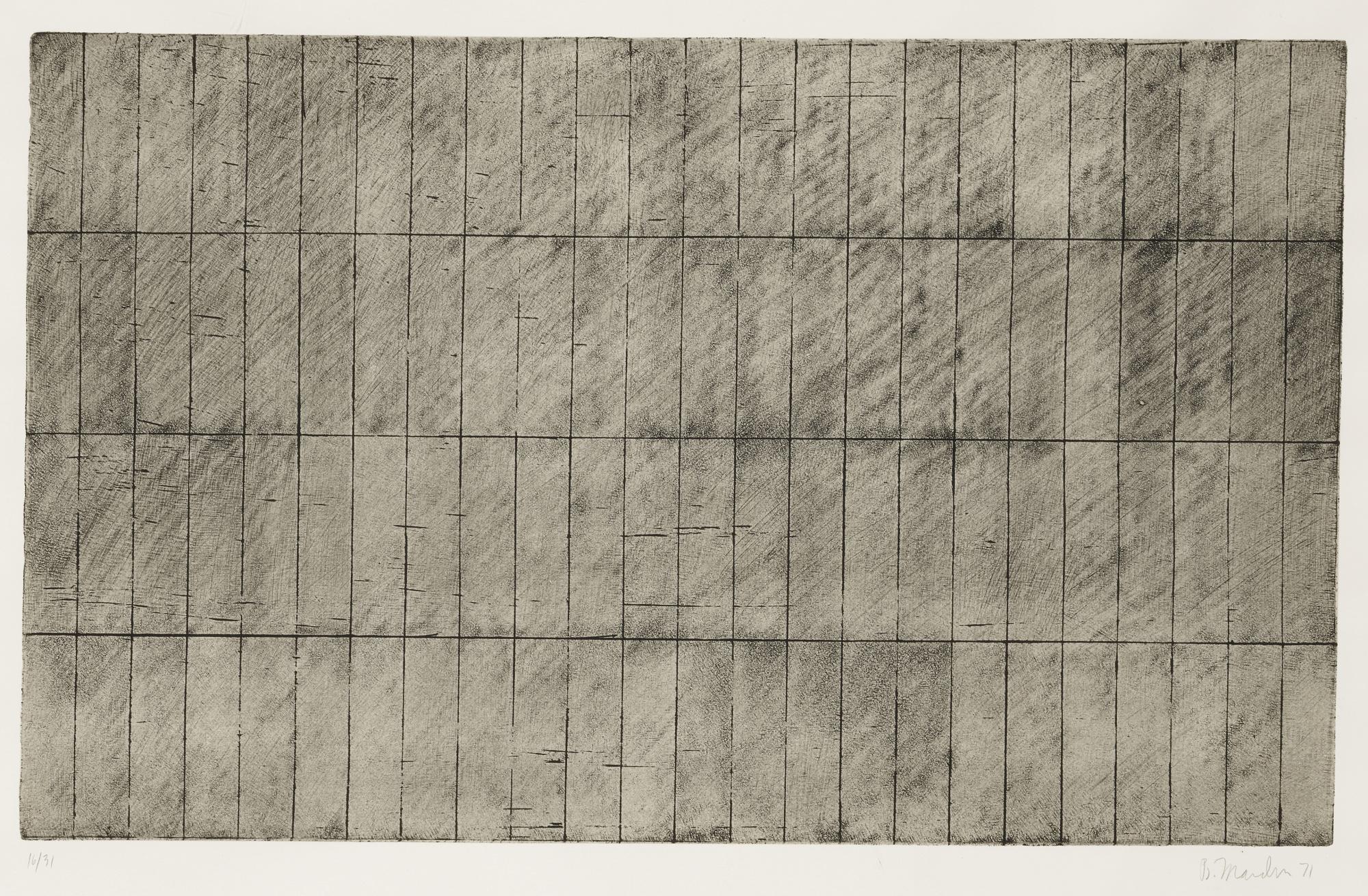 Brice Marden-Grid II (Lewison 18)-1971