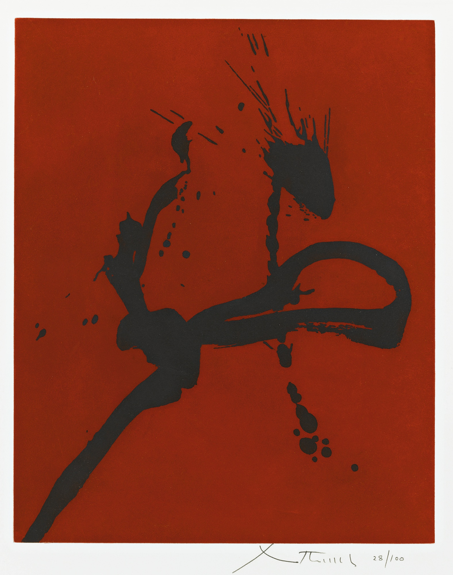 Robert Motherwell-Gesture Iv (State I) (W.A.C. 208)-1977