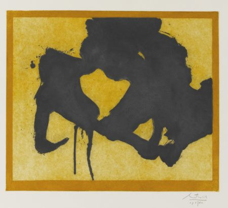 Robert Motherwell-At The Edge (W.A.C. 345)-1984