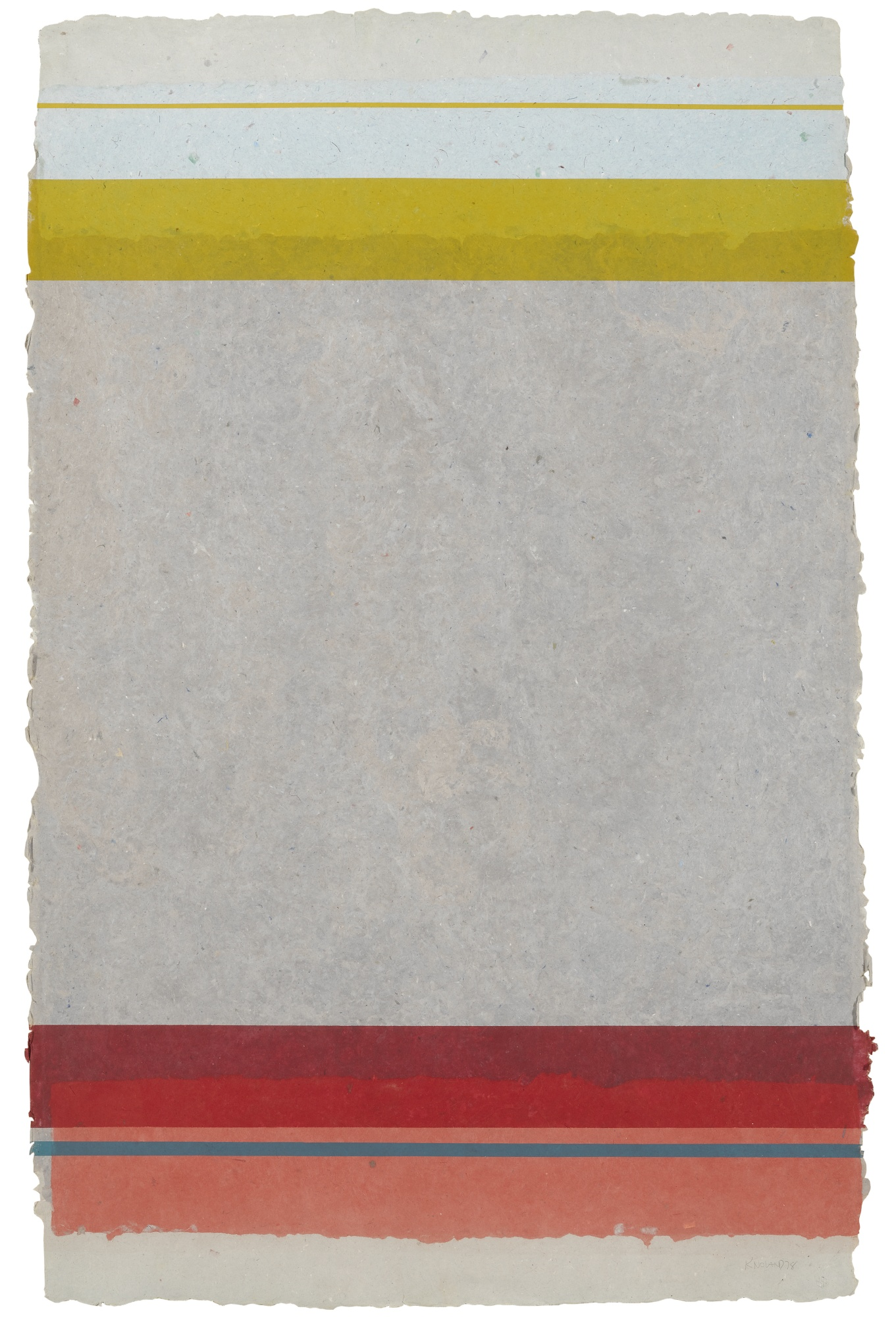 Kenneth Noland-Horizontal Strips V-11 (Tyler 470:Kn320)-1978