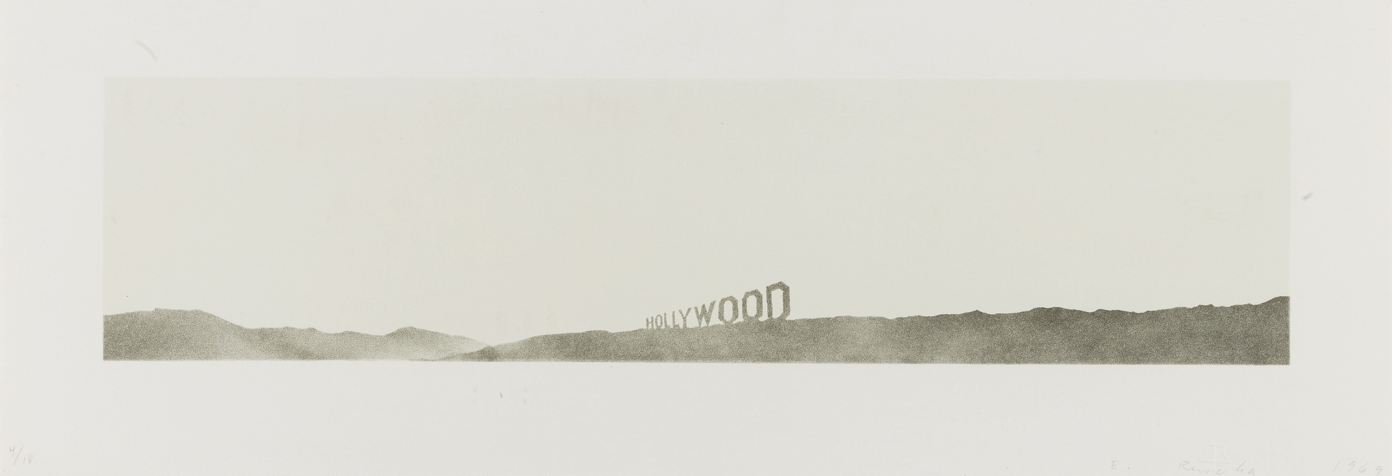 Ed Ruscha-Hollywood (Walker Art Center 18)-1969