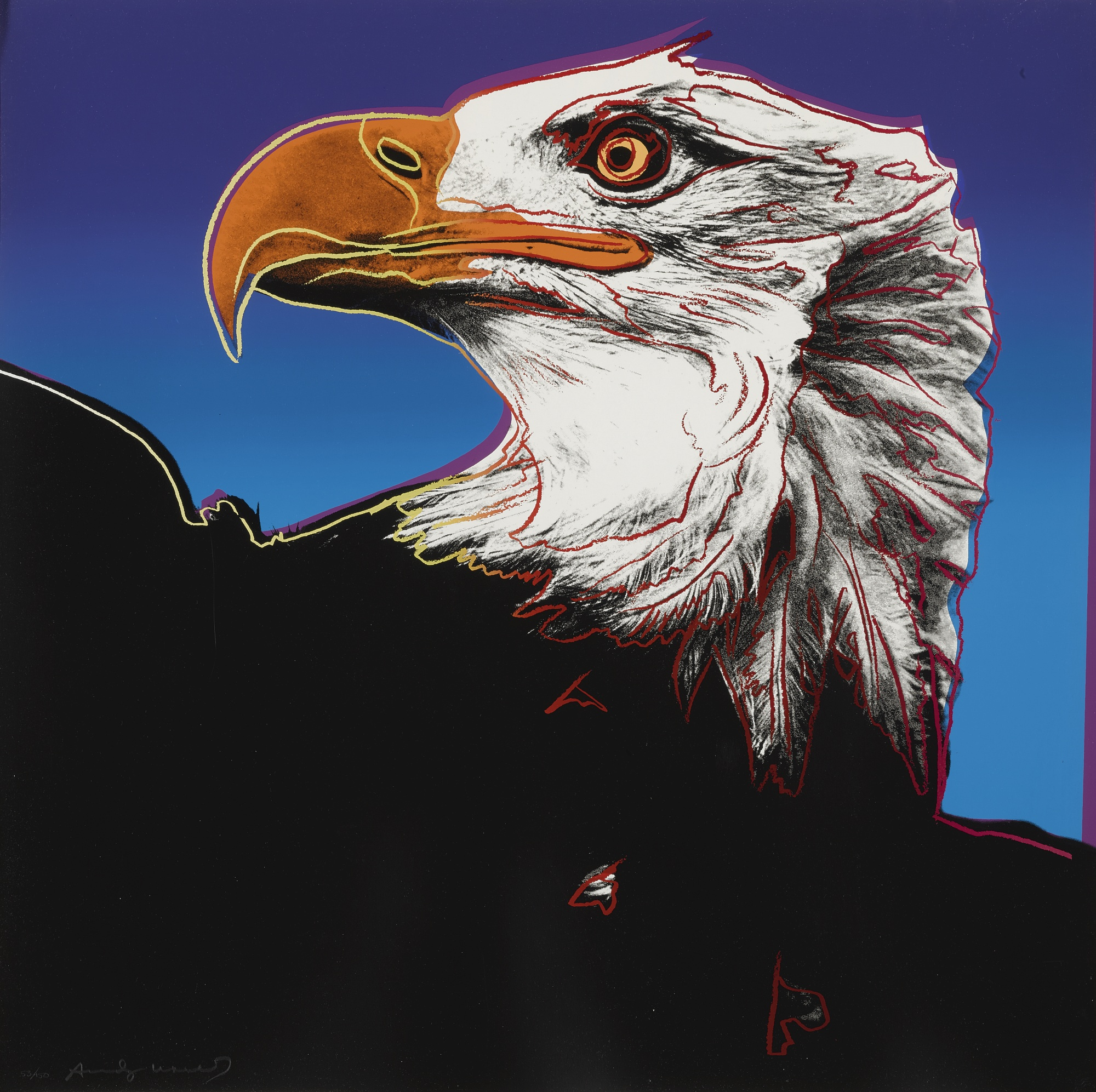 Andy Warhol-Bald Eagle (F. & S. II.296)-1983