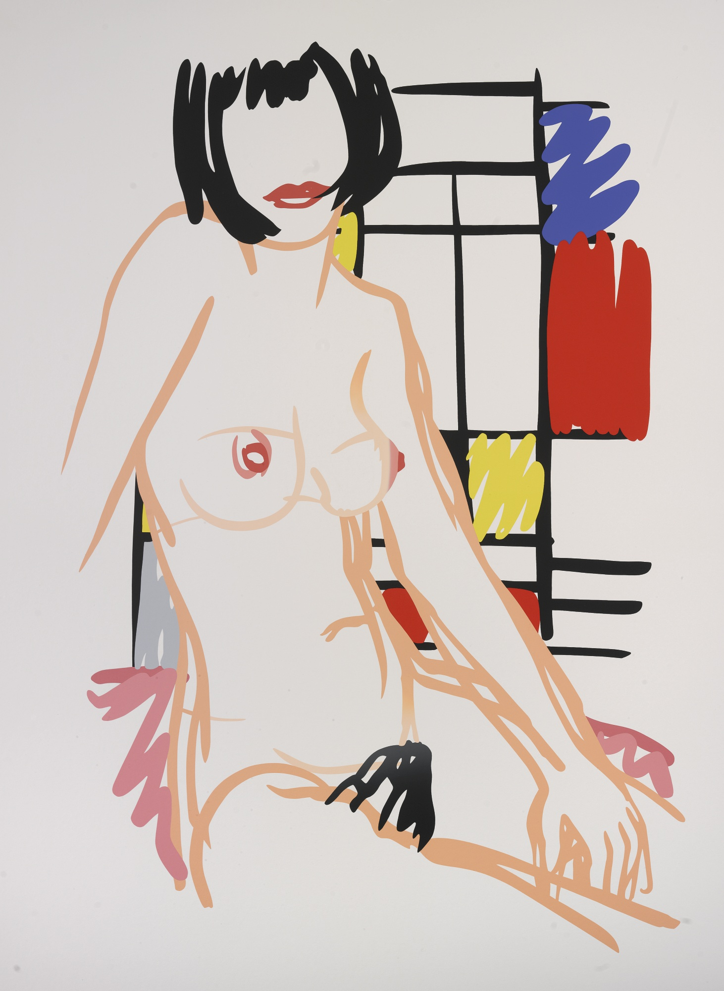Tom Wesselmann-Monica Sitting With Mondrian-1989