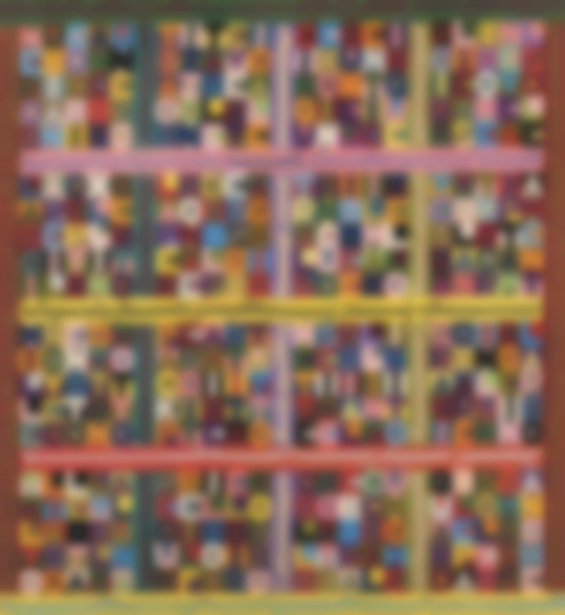 Alighiero Boetti-Senza Titolo (Nero Su Bianco E Bianco Su Nero, Tra Orizzontale E Verticale, Cinque X Cinque Venticinque...)-1988