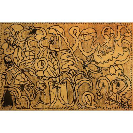 Pierre Alechinsky-A l'aveuglette'/ Blindly-1974