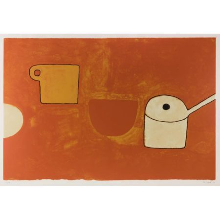 William Scott-Cup, Bowl, Pan, Browns and Ochres-1970