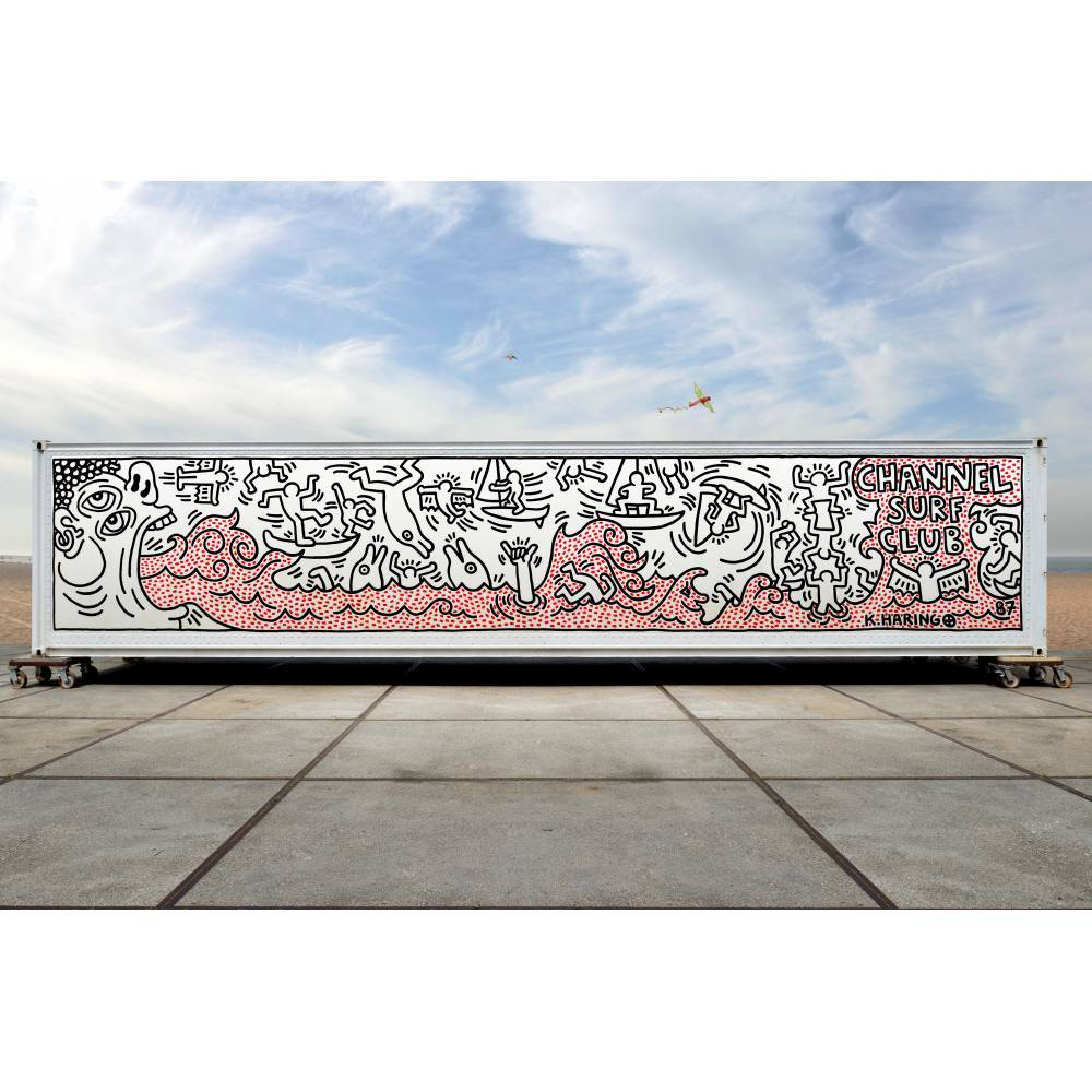 Keith Haring-Channel Surf Club, Knokke-1987
