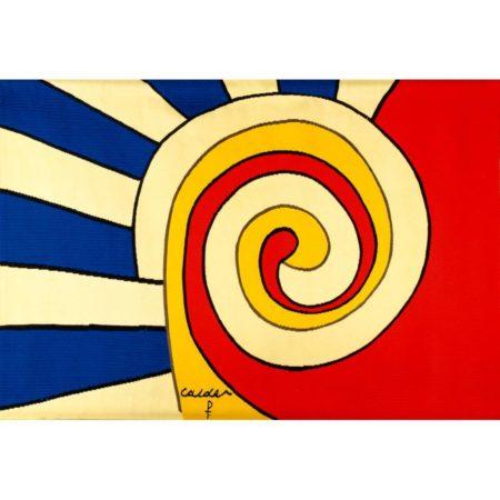 Alexander Calder-The Bicentennial Tapestries: Les Trois Spirales / Three Spirals-1975