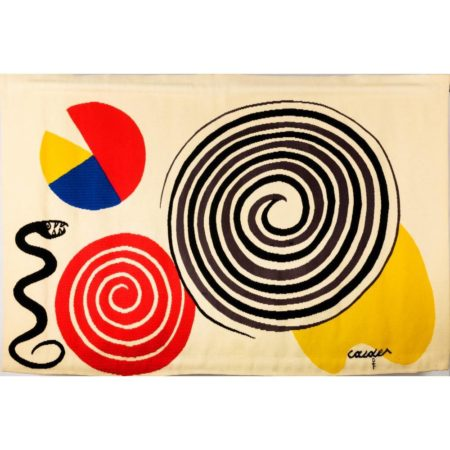 Alexander Calder-The Bicentennial Tapestries: La Poire, le Fromage et le Serpent / The Pear, the Cheese and the Serpent-1975