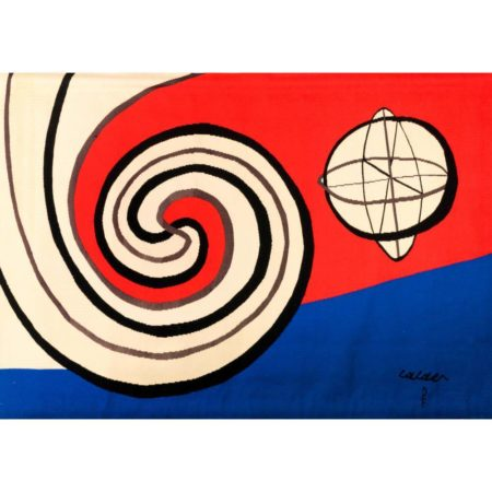Alexander Calder-The Bicentennials Tapestries: Le Sphere et les Spirales / The Sphere and the Spirals-1975