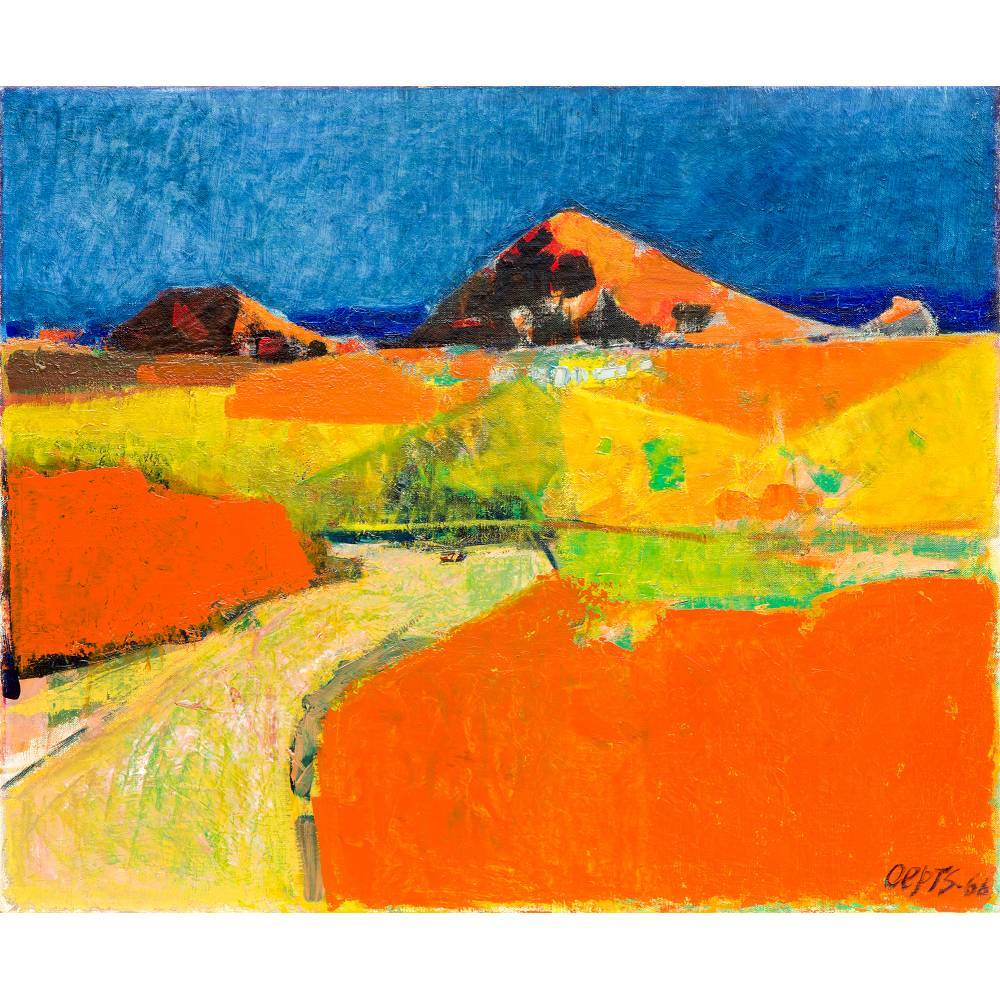 Landscape in the Dordogne-1966
