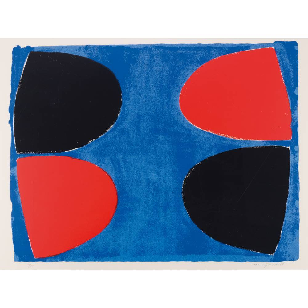 Terry Frost-Black and Red and Blue-1968