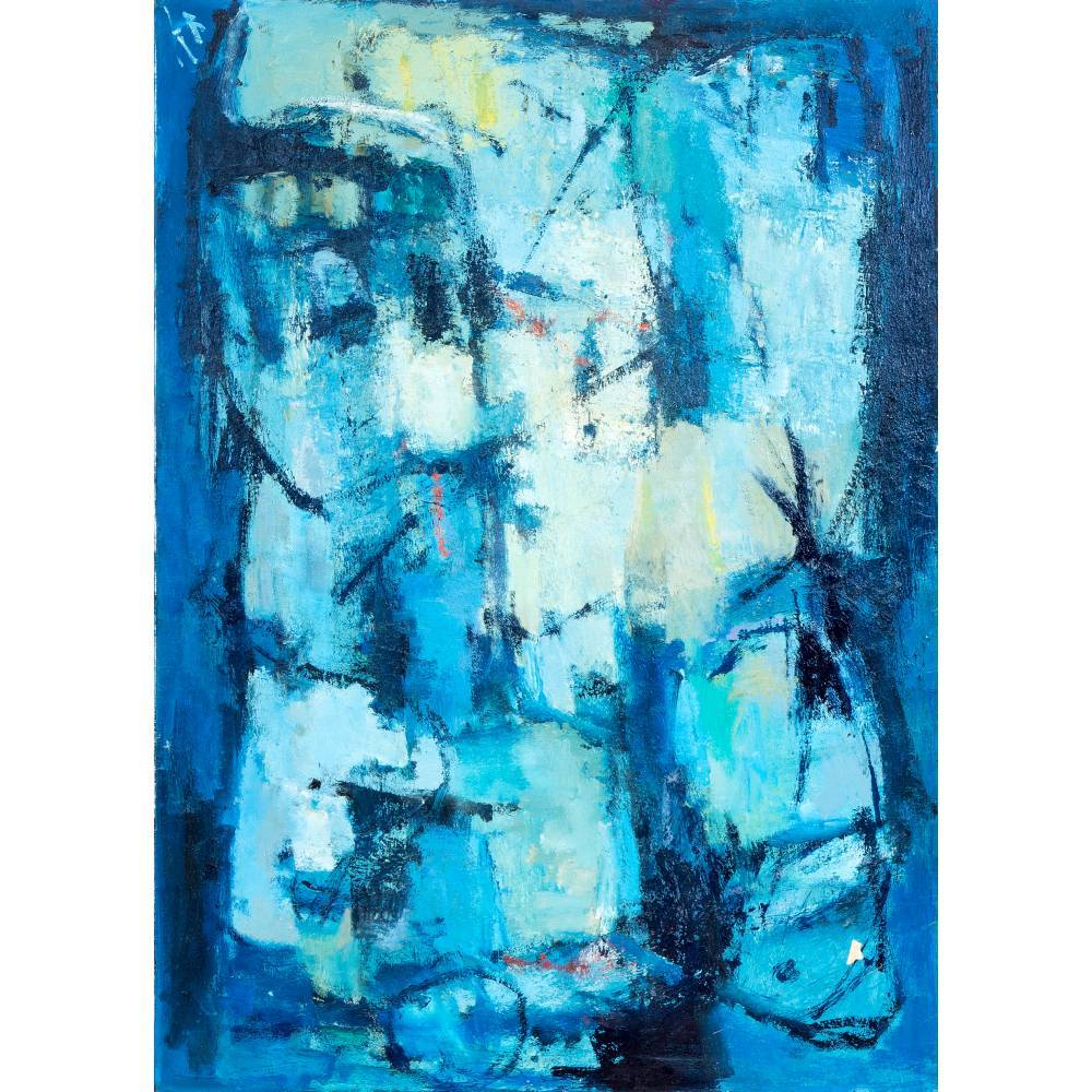 Abstract composition in blue-1978