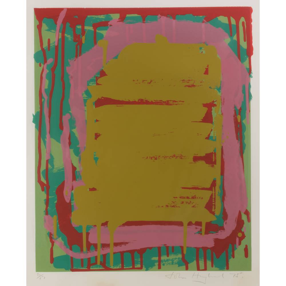 John Hoyland-Untitled Red; Untitled Green; Untitled Yellow-1975