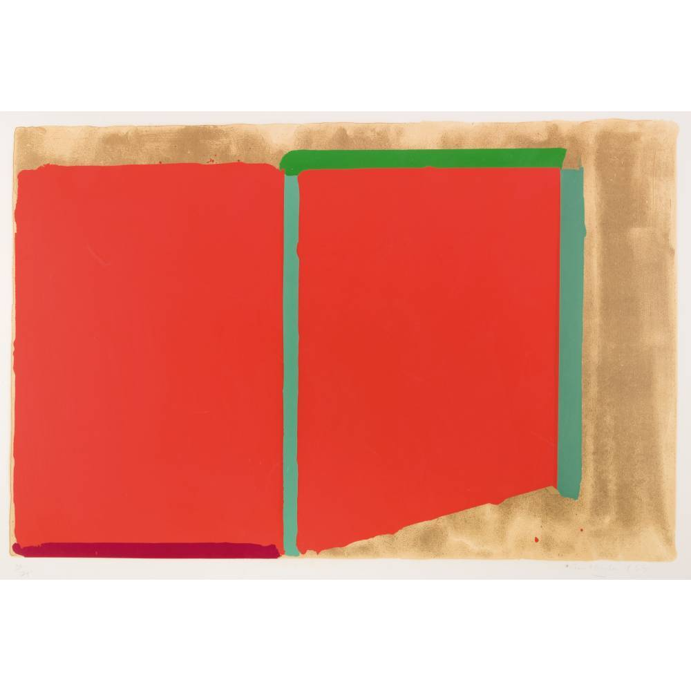 John Hoyland-Reds, Greens-1969