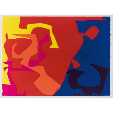 Patrick Heron-Untitled, plate 5 from January Suite-1973