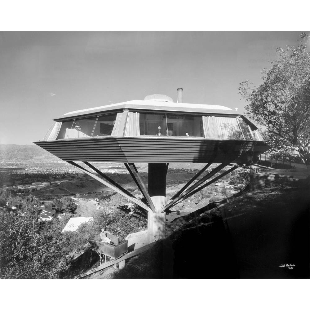 Julius Shulman-Chemosphere House, Malin Residence, Hollywood (Architect: John Lautner)-1961