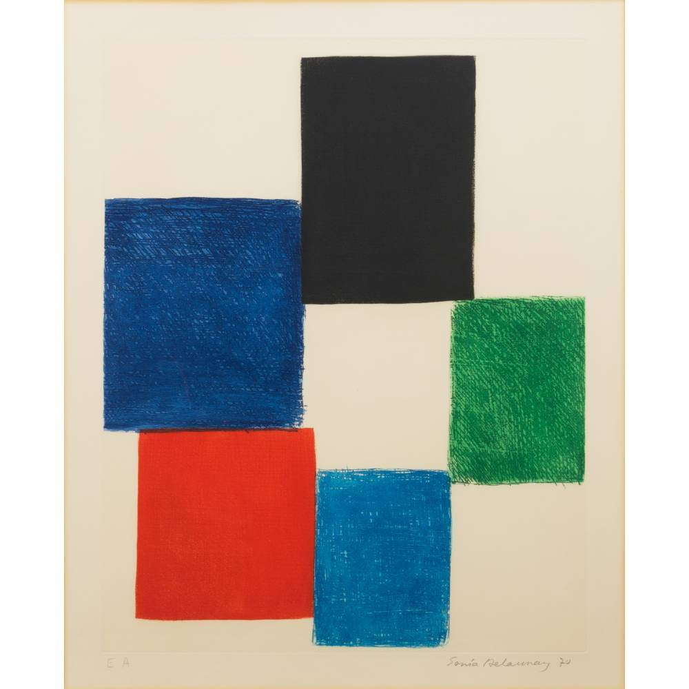 Sonia Delaunay-Composition with squares-1970
