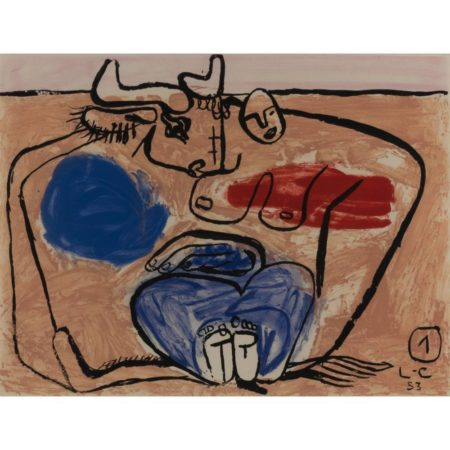 Le Corbusier-Plate 1, from the album 'Unite'/ Unit-1953