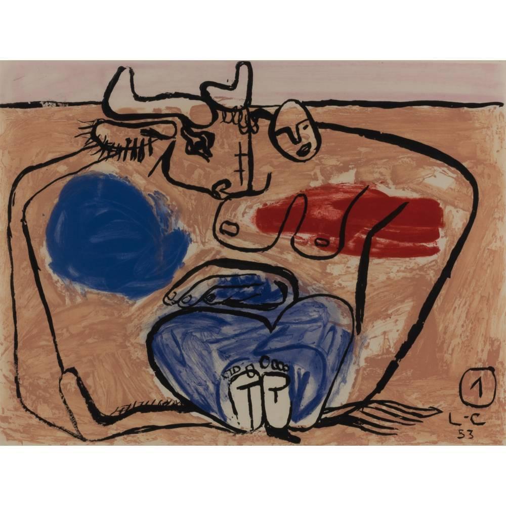 Le Corbusier-Plate 1, from the album 'Unite'/ Unit-1953