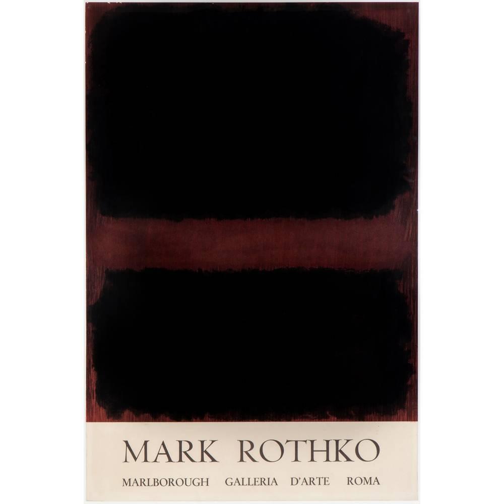 Mark Rothko-Exhibition poster-1971