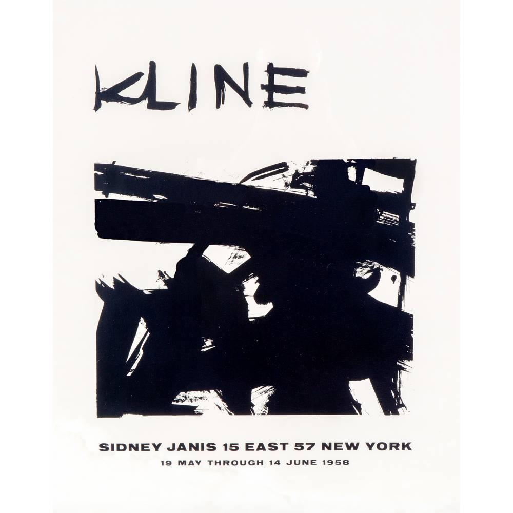 Franz Kline-Exhibition poster-1958