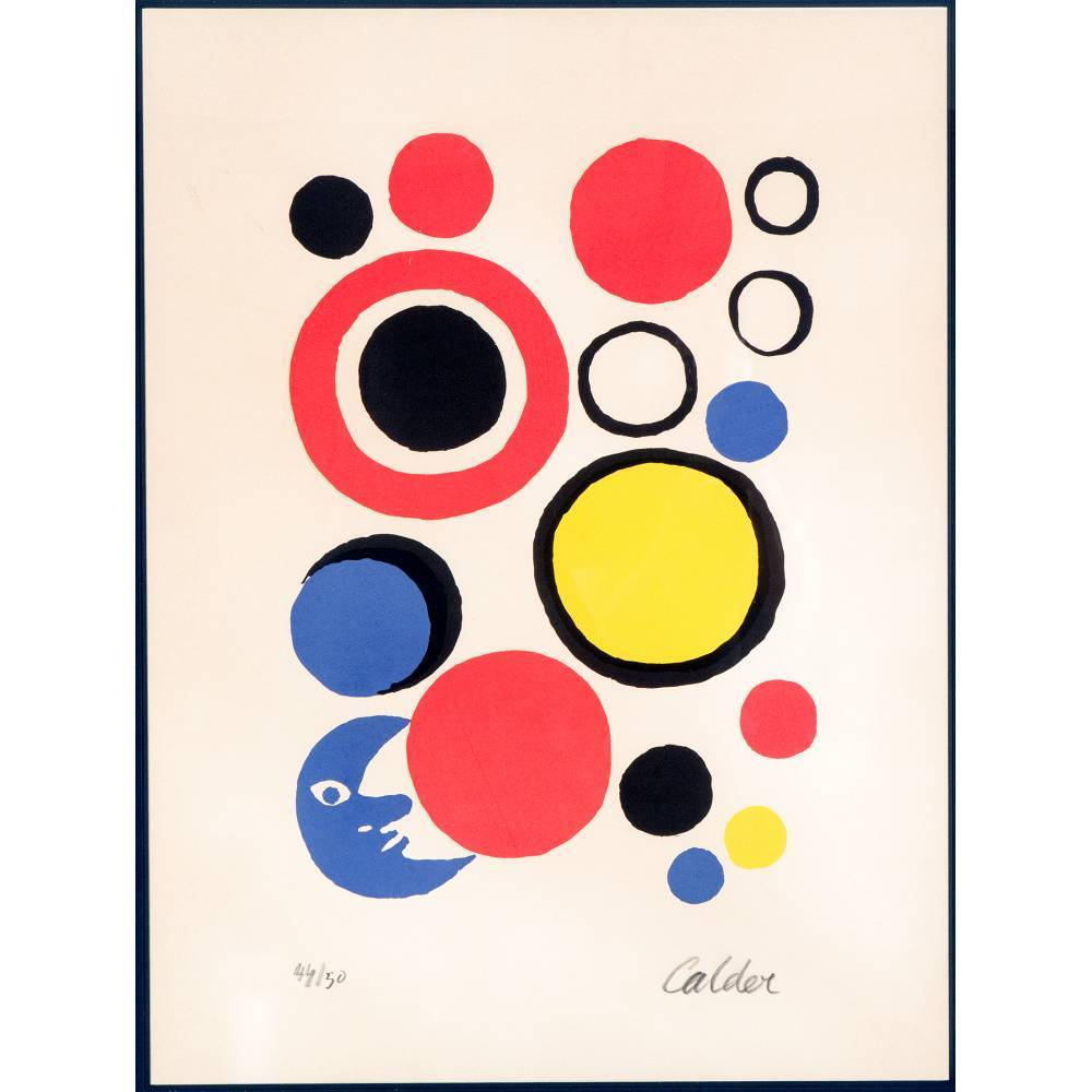 Alexander Calder-Moon and Spheres-1970