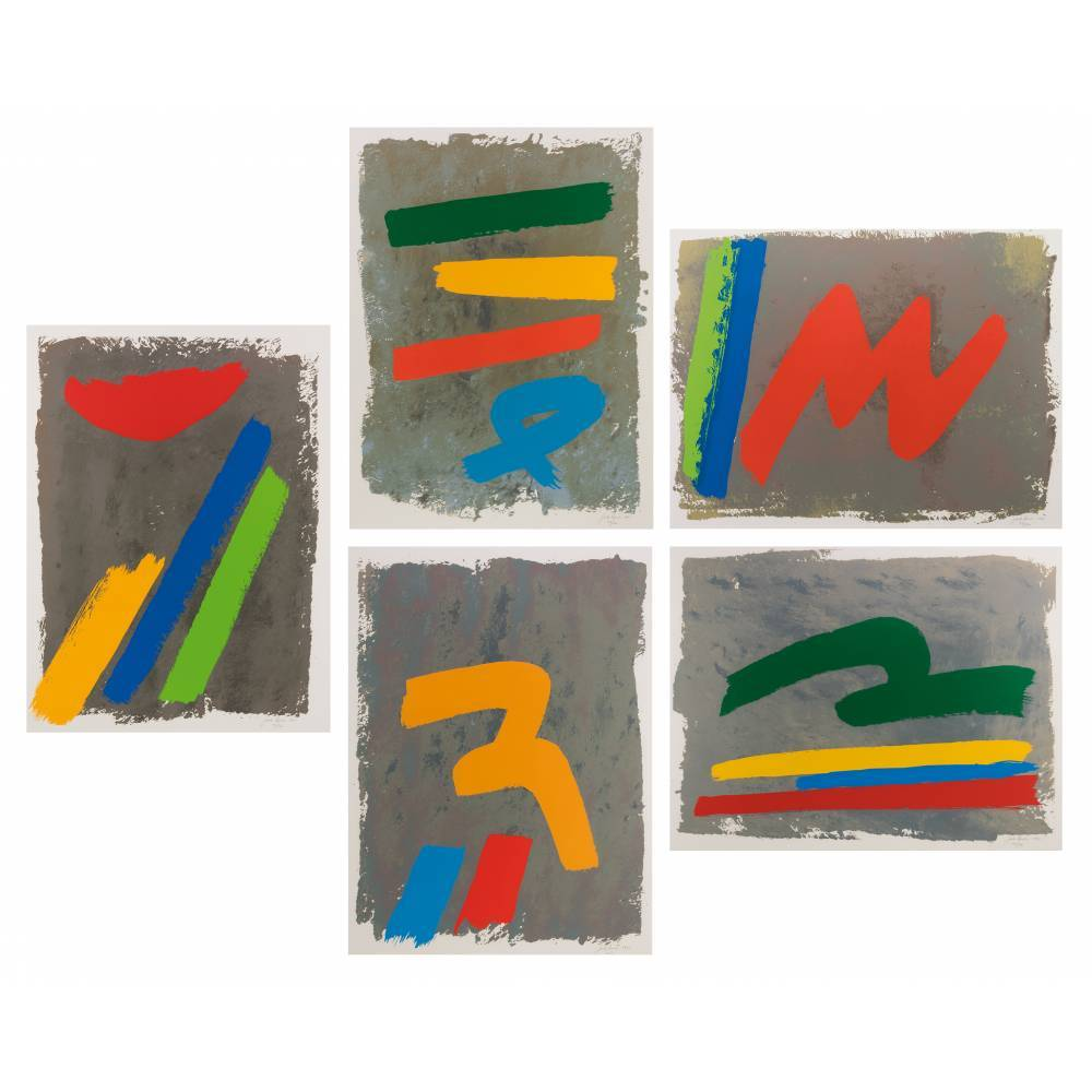 Loop series (consisting of 'Low Sun', Yellow Mark', Three and Blue Loop', 'Red M' and 'Green Loop')-1971