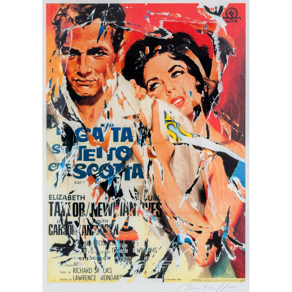 Mimmo Rotella-La gatta sul tetto che scotta / Cat on a Hot Tin Roof-