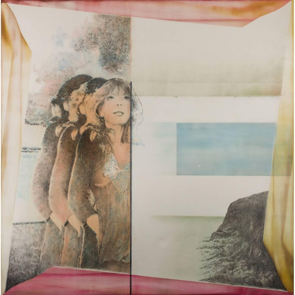 Pol Mara-Three women in landscape-1977