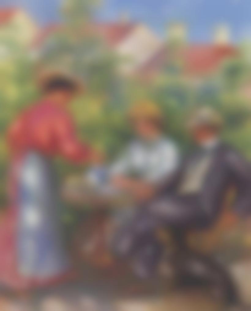 Pierre-Auguste Renoir-La Tasse De The Ou Le Jardin-1907