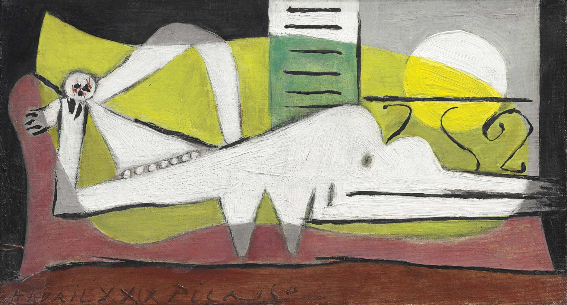 Pablo Picasso-Femme Couchee-1929