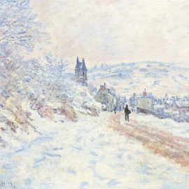 Claude Monet-La Route De Vetheuil, Effet De Neige-1879