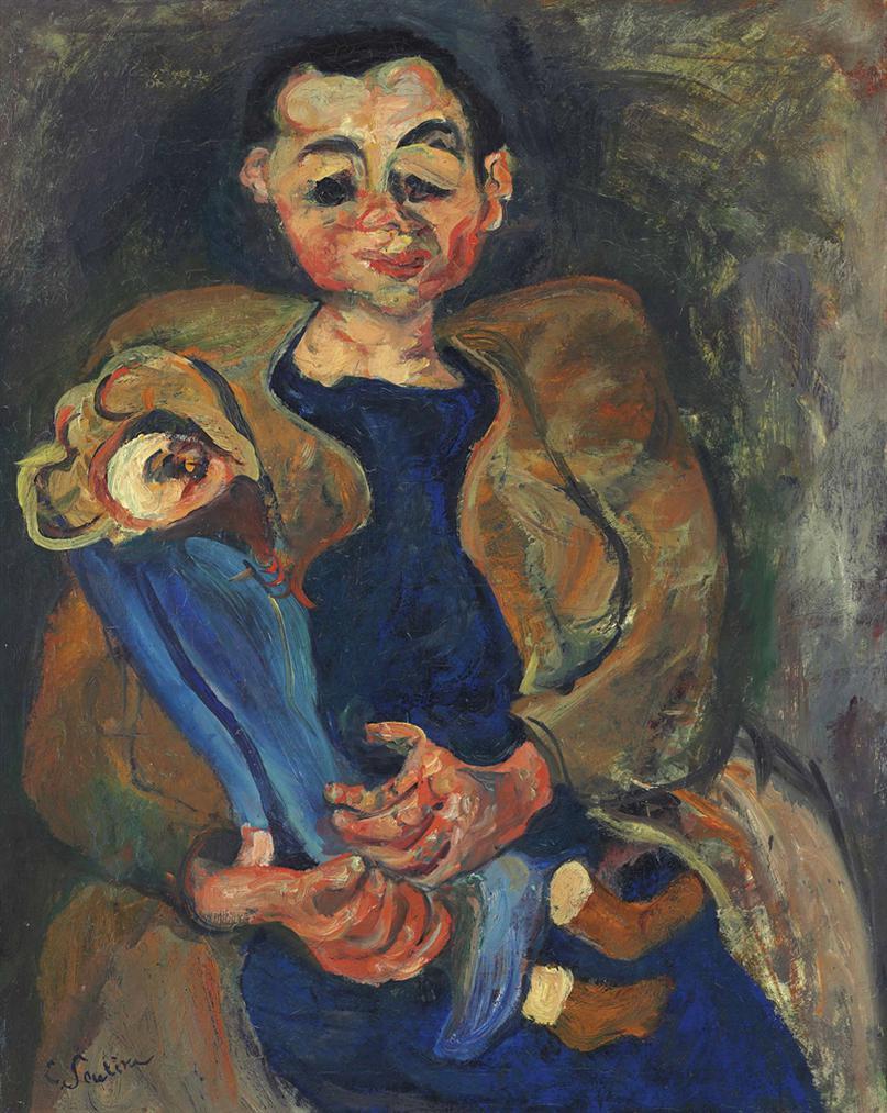 Chaim Soutine-Femme A La Poupee-1924
