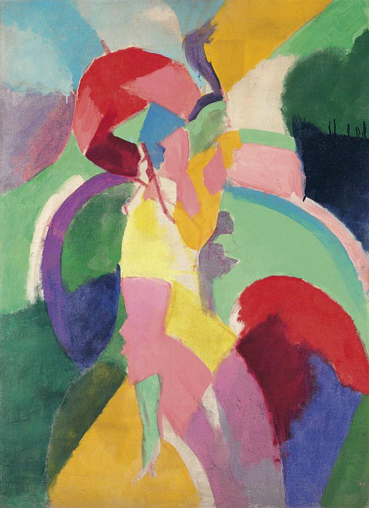 Robert Delaunay-Femme A L'Ombrelle Ou La Parisienne-1913