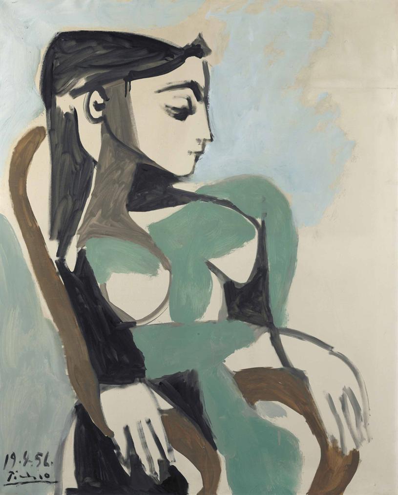 Pablo Picasso-Femme Dans Un Fauteuil-1956
