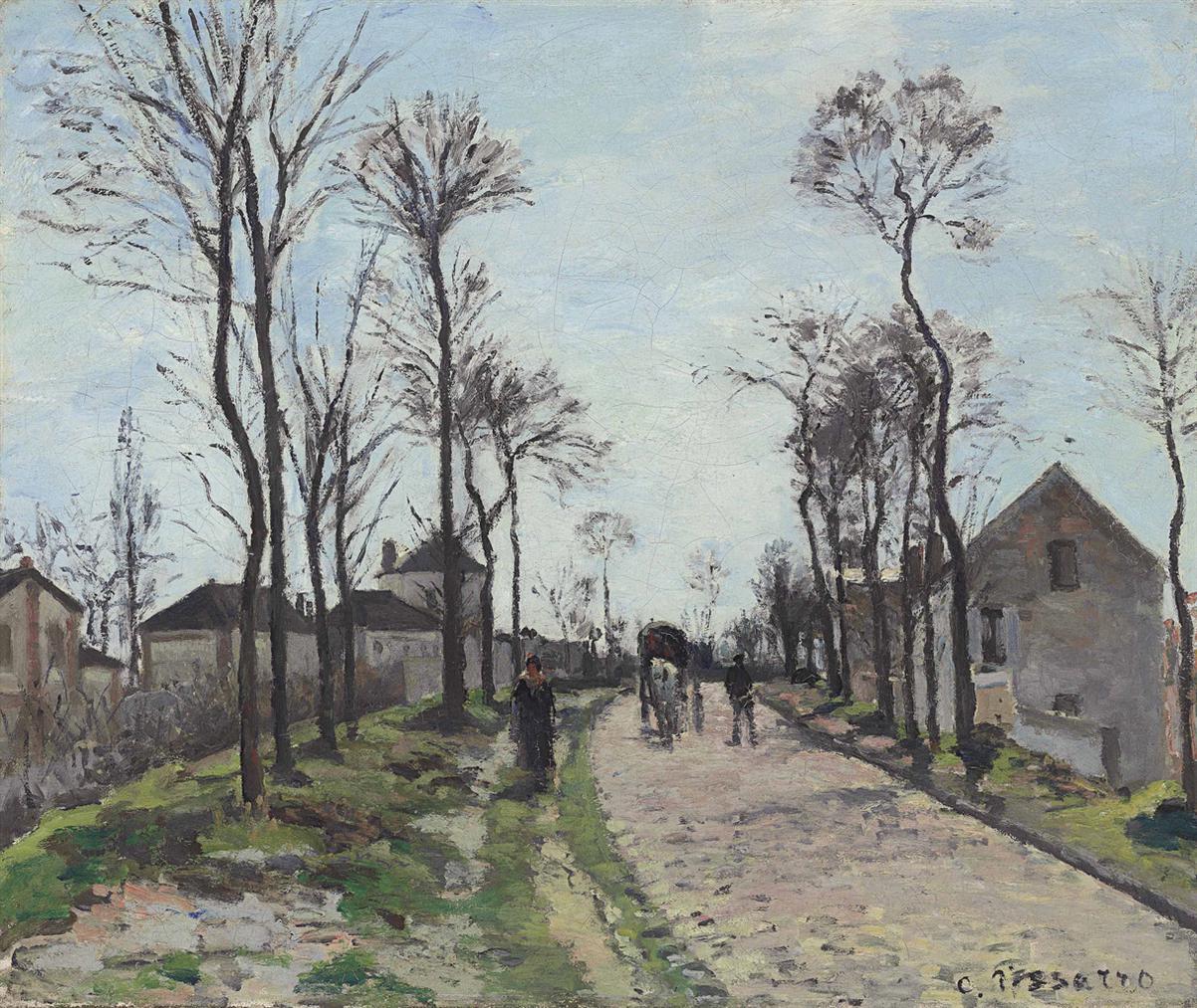 Camille Pissarro-La Route De Saint-Germain, Louveciennes-1870