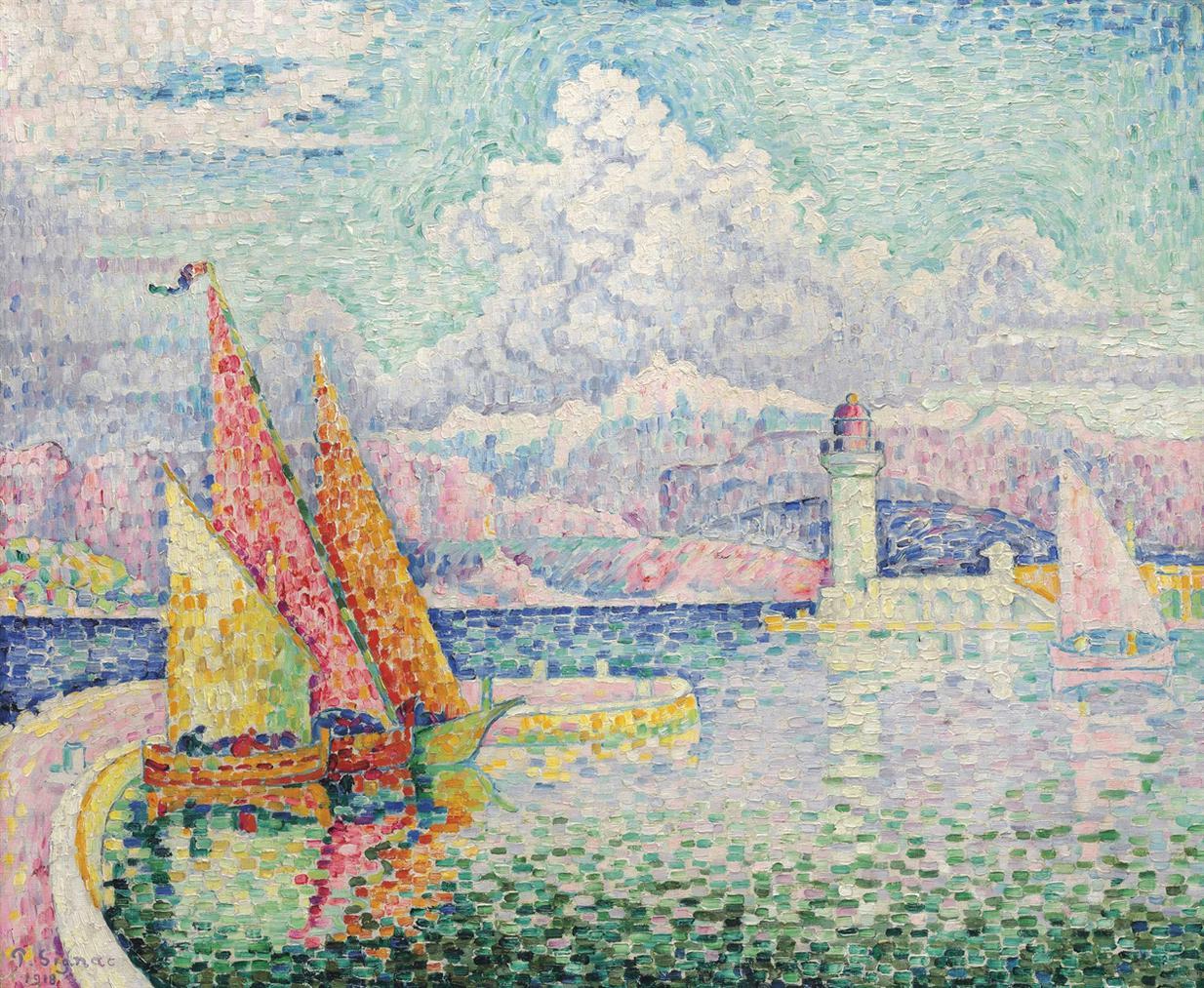 Paul Signac-Le Musior (Port Dantibes)-1918